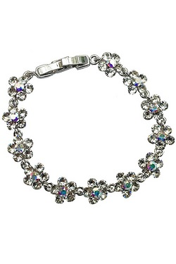Crystallized Swarovski Elements Daisy Bracelet