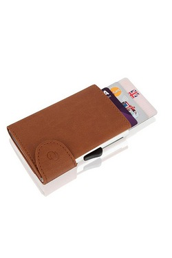 Leather RFID Flip Up Wallet