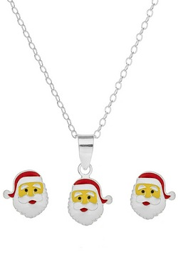Sterling Silver and Enamel Santa Pe...