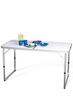 Double Folding Adjustable Camping Table