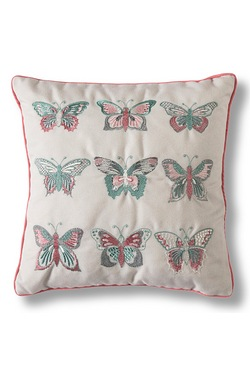 Embroidered Tropical Butterflies Cu...