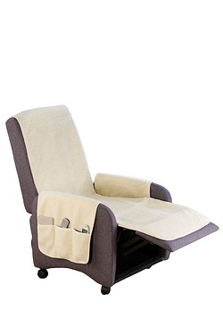Fleece-Effect Armchair/Recliner Cover