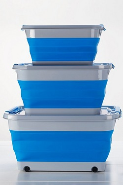 Set Of 3 Collapsible Storage Boxes and Lids