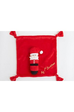 Santa Rattle and Comforter Gift Set