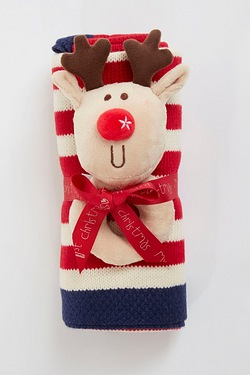 Rudolph Rattle and Knit Blanket Gif...