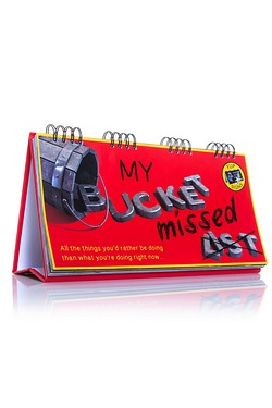 Bucket Missed List Flip Book