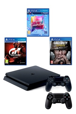 PS4 500GB COD Bundle + GT Sport + S...