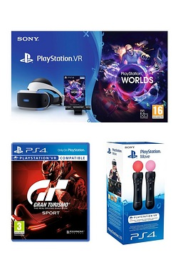 PS VR Starter Pack + GT Sport + Mov...