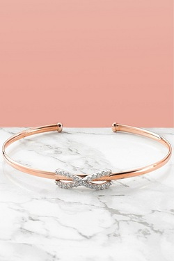 9ct Rose Gold Infinity Bangle