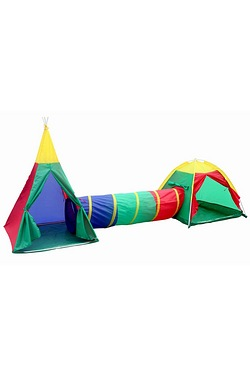 3 in 1 Adventure Play Tent Set with Tunnel