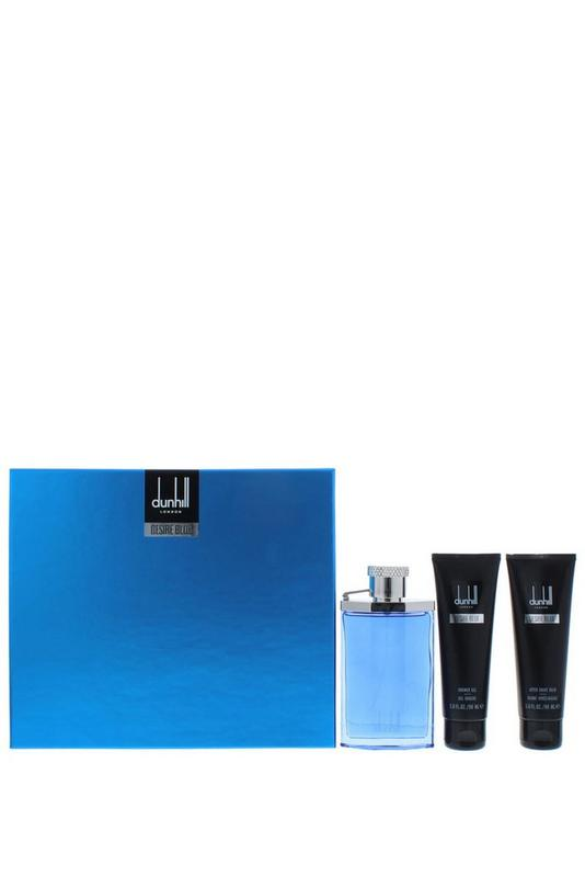 Compare retail prices of Alfred Dunhill Desire Blue London 3 Piece Gift Set for Men to get the best deal online