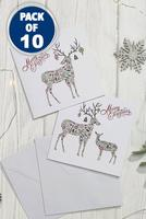 Compare retail prices of 10 Festive Reindeer Cards to get the best deal online
