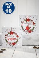 Compare retail prices of 10 Festive Robin Cards to get the best deal online