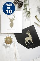 Compare retail prices of 10 Gold Stag Christmas Cards to get the best deal online