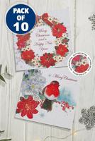 Compare retail prices of 10 Floral Robin and Wreath Cards to get the best deal online