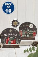 Compare retail prices of 10 Snowglobe Over the Rooftops Cards to get the best deal online