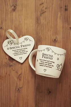 Mug and Heart Gift Set - Friend