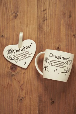 Mug and Heart Gift Set - Daughter