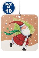 Compare retail prices of 10 Skating Santa Gift Tags to get the best deal online