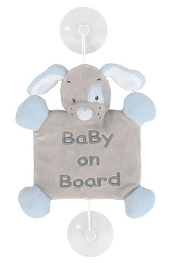 Nattou Sam and Toby: Baby on Board Sign - Toby the Dog