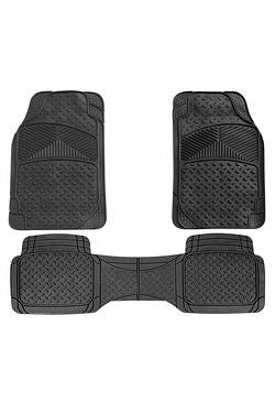 Canberra Rubber Car Mat Set with Full Cross Rear