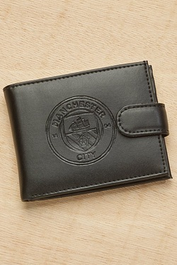 Man City Embossed Leather Wallet