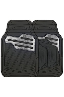 Adonia 4 Piece Rubber Mat Set with Metallic Carbon Heel Pad