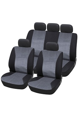 Jacquard Material Seat Cover Set 3 Zip Rear
