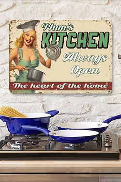 Mums Kitchen Original Metal Wall Sign
