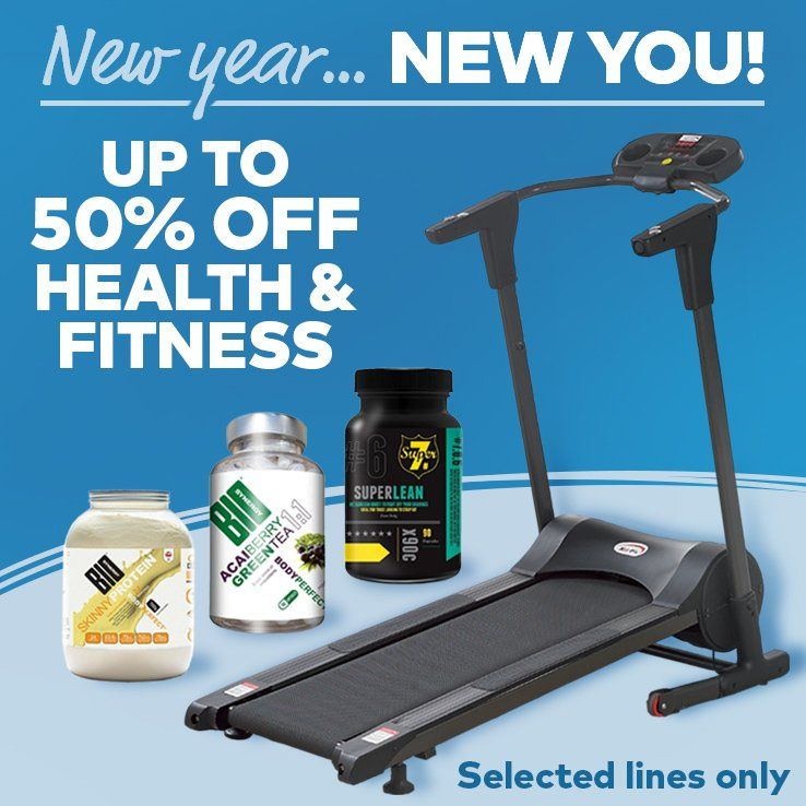 Sports & Leisure - New Year… New You! Up To 50% OFF Health & Fitness
