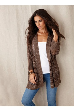 Yourstyle All Over Sequin Cardigan