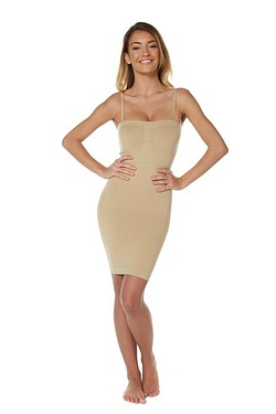 Body Contour Bandeau Slip Dress