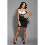 Lipsy Embroidered Peplum Dress