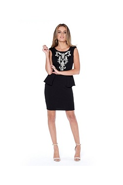 Lipsy Peplum Bodycon Dress