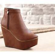 Be You Zip Wedge Boot