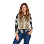 Just Me Faux Fur Gilet