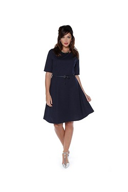 Just Me Ponte Roma Belted Dress
