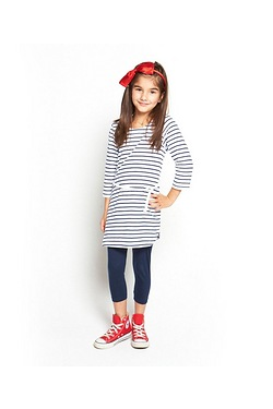 Girls Stripe Tunic Dress