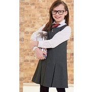Girls Ponte Pinafore