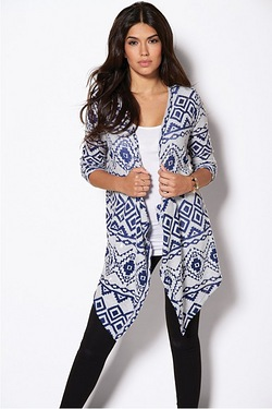 Yourstyle Aztec Knitted Cardigan