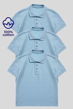 Pack Of 3 Unisex Polos