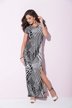 AX Paris Printed Split Side Maxi Dress