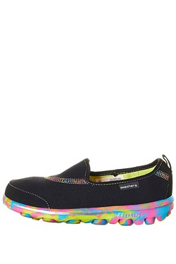 Girls Skechers Go Walk Slip On Shoe