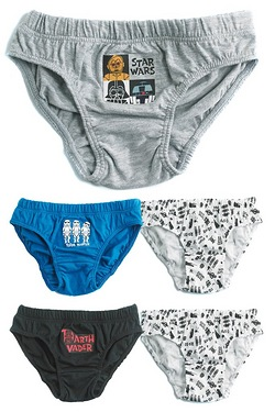 Boy's Pack Of 5 Briefs
