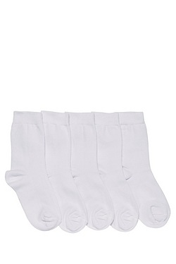 Girl's Pack Of 5 Socks