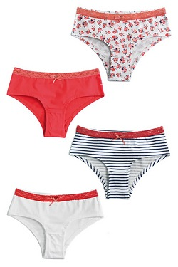 Girls Pack Of 4 Shorts