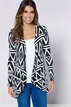 Be You Waterfall Cardigan - Aztec