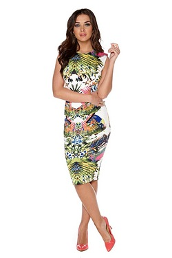 AX Paris Tropical Midi Dress