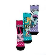 Girls Monster High 3 Pack of Socks