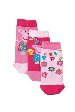 Girls Peppa Pig 3 Pack of Socks